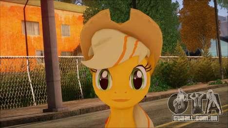 Applejack from My Little Pony para GTA San Andreas terceira tela