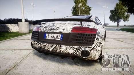 Audi R8 LMX 2015 [EPM] Sharpie para GTA 4 traseira esquerda vista