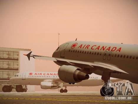 Airbus A320-214 Air Canada para as rodas de GTA San Andreas
