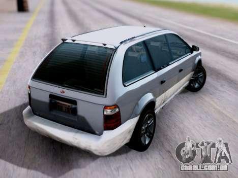 GTA V Minivan para GTA San Andreas esquerda vista