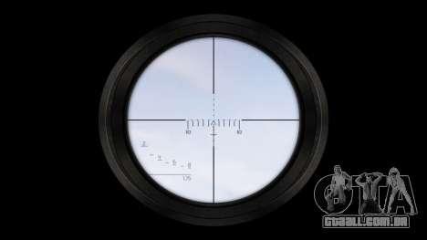 American sniper rifle SR-25 para GTA 4 terceira tela