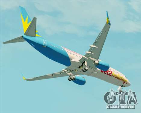 Boeing 737-800 Jet2Holidays para GTA San Andreas vista superior