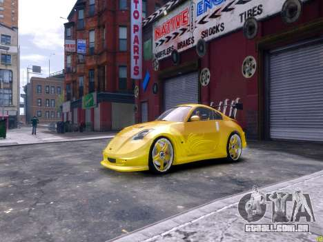 Nissan 350Z Fast And Furious Tokyo Drift para GTA 4 esquerda vista