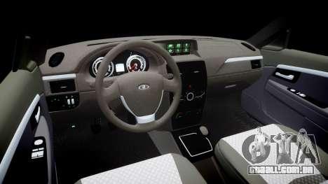 VAZ-2172 restyling para GTA 4 vista interior
