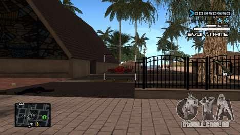 C-HUD Minimal para GTA San Andreas segunda tela