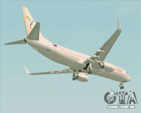 Boeing 737-800 South East Asian Airlines (SEAIR) para vista lateral GTA San Andreas