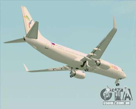 Boeing 737-800 South East Asian Airlines (SEAIR) para vista lateral GTA San Andreas