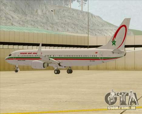 Boeing 737-8B6 Royal Air Maroc (RAM) para as rodas de GTA San Andreas
