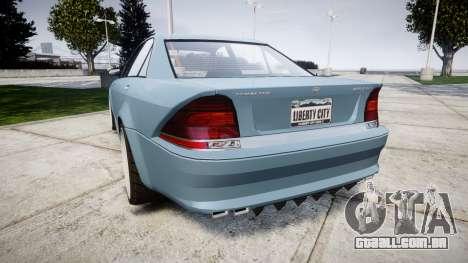 Benefactor Schafter Gen. 1 Grey Series para GTA 4 traseira esquerda vista