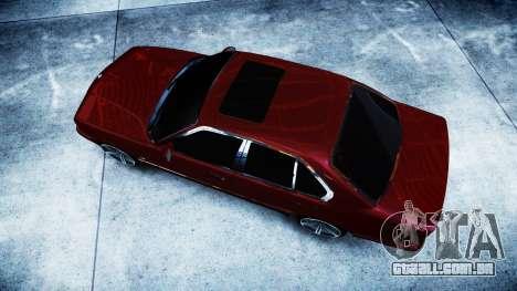 BMW M5 E34 1995 Stock para GTA 4 vista direita