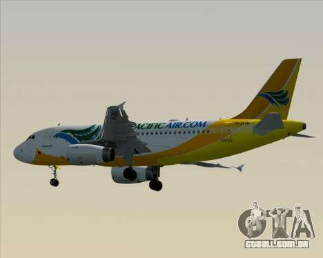 Airbus A319-100 Cebu Pacific Air para GTA San Andreas vista traseira