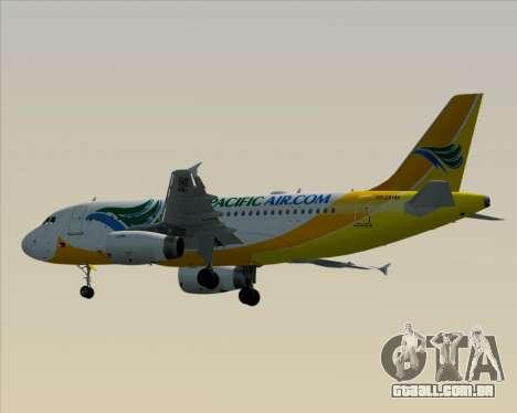 Airbus A319-100 Cebu Pacific Air para GTA San Andreas vista traseira