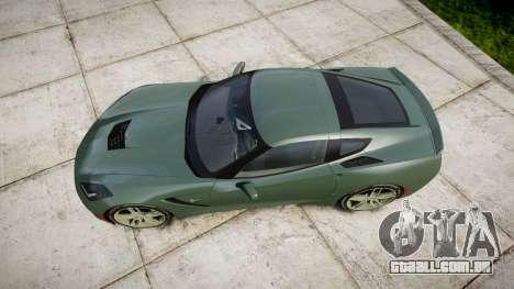 Chevrolet Corvette C7 Stingray 2014 v2.0 TirePi2 para GTA 4 vista direita
