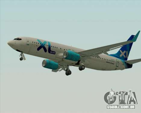 Boeing 737-800 XL Airways para GTA San Andreas traseira esquerda vista