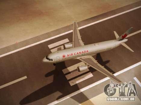 Airbus A320-214 Air Canada para GTA San Andreas vista traseira