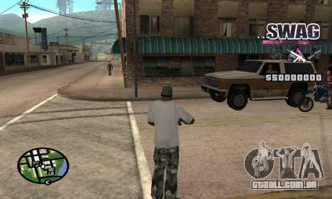 C-HUD Espaço SWAG para GTA San Andreas segunda tela