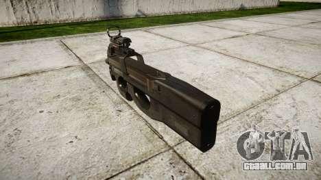 Belga submachine gun, FN P90-alvo para GTA 4 segundo screenshot