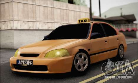Honda Civic Fake Taxi para GTA San Andreas