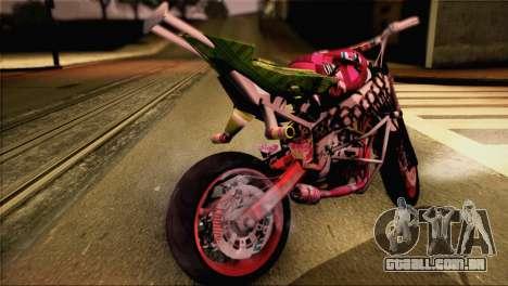 Kawasaki Ninja Zx6R v3 para GTA San Andreas traseira esquerda vista