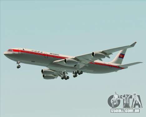 Airbus A340-300 Air Koryo para as rodas de GTA San Andreas