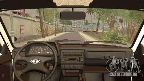 VAZ 2121 Polícia para GTA San Andreas traseira esquerda vista