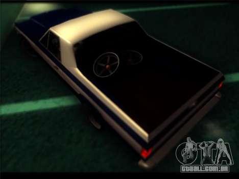 Novo Picador para GTA San Andreas vista interior