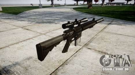 American sniper rifle SR-25 para GTA 4 segundo screenshot