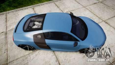 Audi R8 V10 Plus 2013 Vossen VVS CV3 para GTA 4 vista direita