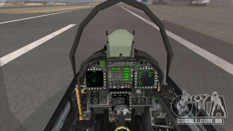 FA-18 Hornet Malaysia Air Force para GTA San Andreas traseira esquerda vista