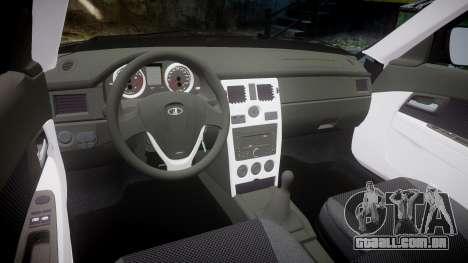 ВАЗ-2170 Lada Priora estoque para GTA 4 vista interior
