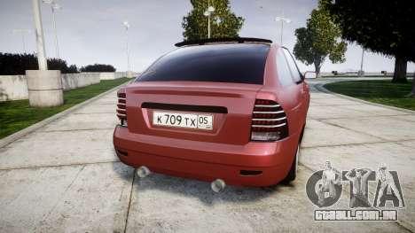 VAZ-2172 Dag estilo para GTA 4 traseira esquerda vista