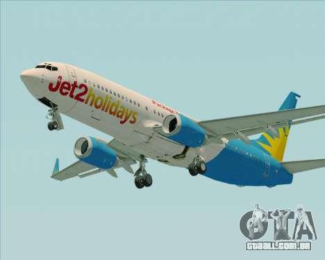 Boeing 737-800 Jet2Holidays para GTA San Andreas vista traseira