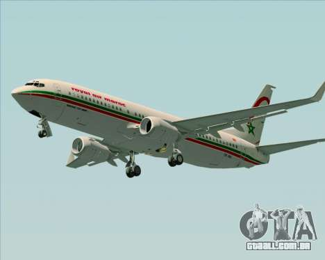 Boeing 737-8B6 Royal Air Maroc (RAM) para GTA San Andreas esquerda vista
