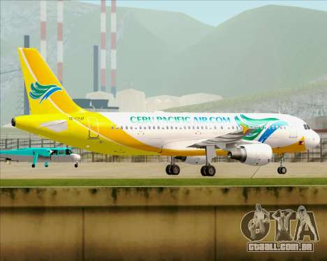 Airbus A320-200 Cebu Pacific Air para GTA San Andreas vista interior