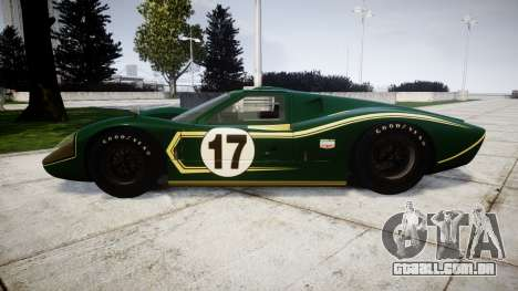 Ford GT40 Mark IV 1967 PJ 17 para GTA 4 esquerda vista