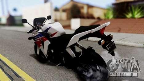 Honda CBR150FI para GTA San Andreas esquerda vista