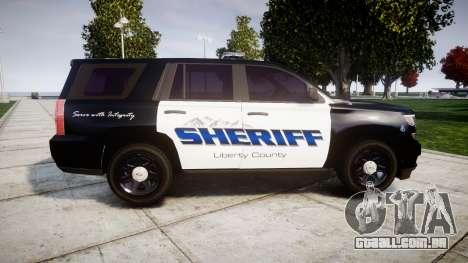 Chevrolet Tahoe 2015 Sheriff [ELS] para GTA 4 esquerda vista