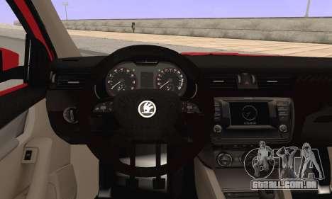Skoda Octavia para GTA San Andreas traseira esquerda vista