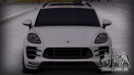 Porsche Macan Turbo para GTA San Andreas traseira esquerda vista