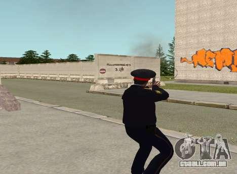 O sargento da polícia para GTA San Andreas por diante tela