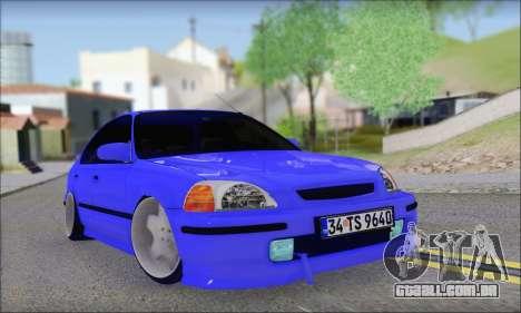 Honda Civic 34 TS 9640 INDIGO para GTA San Andreas