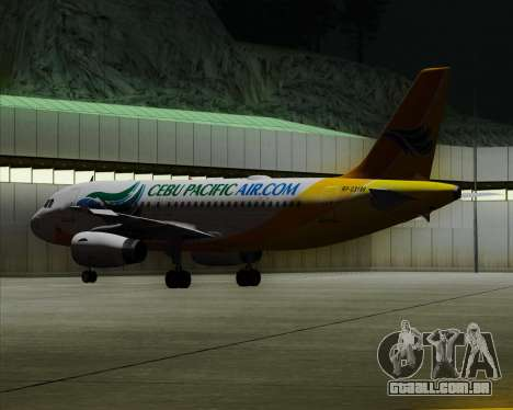 Airbus A319-100 Cebu Pacific Air para GTA San Andreas