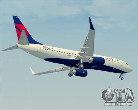 Boeing 737-800 Delta Airlines para vista lateral GTA San Andreas