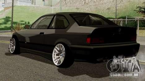 BMW M3 E36 Bucale Drift para GTA San Andreas esquerda vista