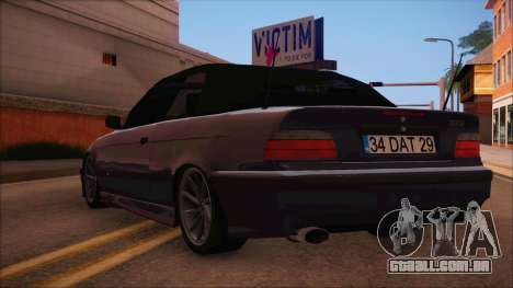 BMW M3 E36 Cabrio 34 DAT 29 para GTA San Andreas esquerda vista