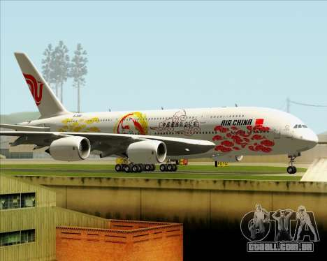 Airbus A380-800 Air China para GTA San Andreas vista interior
