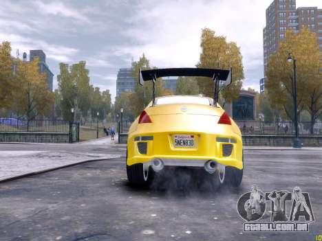 Nissan 350Z Fast And Furious Tokyo Drift para GTA 4 vista de volta