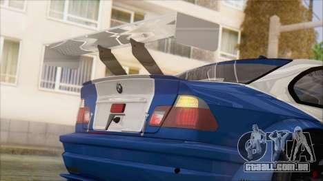 BMW M3 E46 GTR para GTA San Andreas vista traseira
