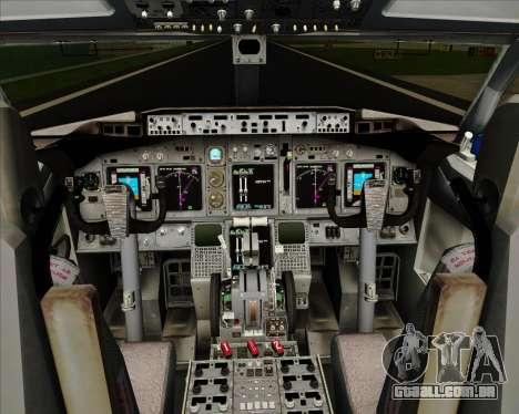 Boeing 737-800 Delta Airlines para GTA San Andreas interior