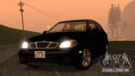 Daewoo Lanos Esporte EUA 2001 para GTA San Andreas vista traseira